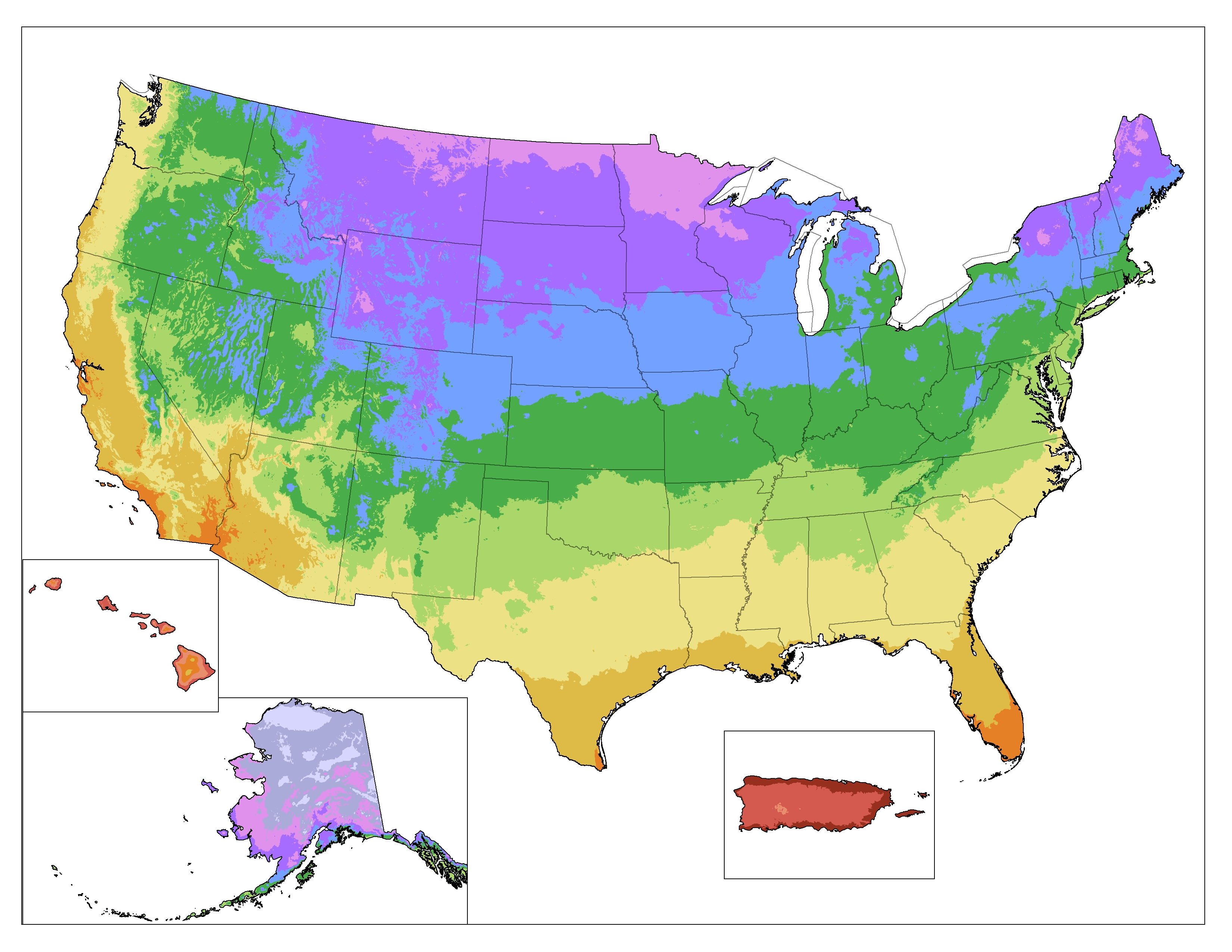 USDA Cold Hardiness Map Zone Finder